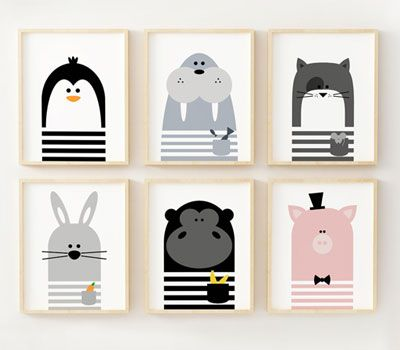 Limitation Free Fun Graphic Animal Posters For Kids Art Wall Kids Nursery Prints Animal Posters