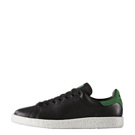 adidas Originals Stan Smith Boost Herren Sneaker Schuhe BB0009 Schwarz Grün
