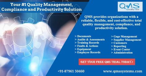 Your #1 Quality Management System, Compliance and Productivity Solution