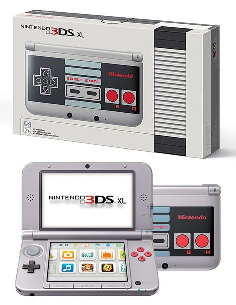 Nintendo 3DS XL Retro NES Edition The Nintendo NES system was a gaming game-changer when released back in 1985. To celebrate 30 years, Nintendo created a limited release version of their new 3DS XL handheld made to look like the original NES controller. Available October 10.