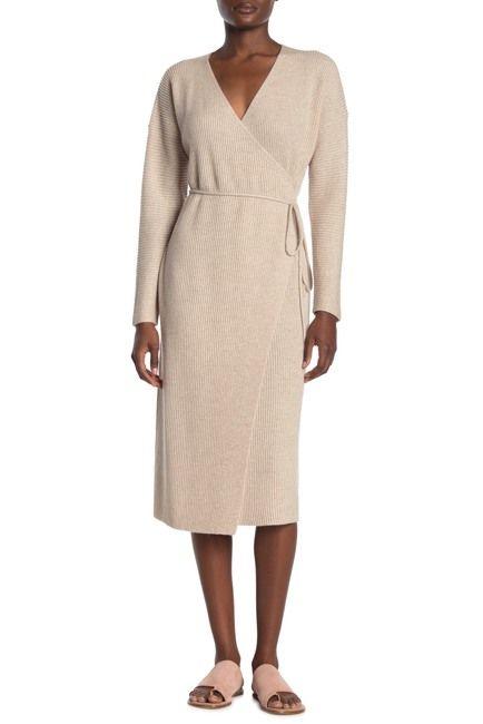cashmere wool wrap dress