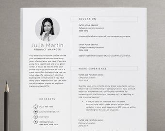 Etsy Your Place To Buy And Sell All Things Handmade Simple Resume Template Resume Template Modern Resume Template