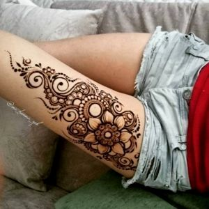 Places To Get Henna Tattoos Near Me Gallery Thigh Henna Henna Thigh Tattoo Leg Henna