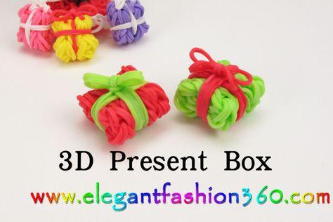 Rainbow Loom - Christmas Charms, ornaments, bracelet , tutorials ...