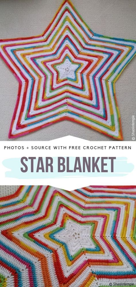 Star Shaped Baby Blankets Free Crochet Patterns