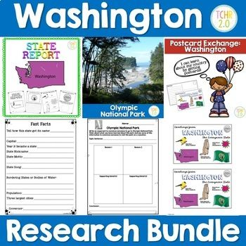 Washington State Research Report This Is A 31 Page Unit That You Can Use To Complete A R Washington State History Social Studies Classroom Homeschool Education