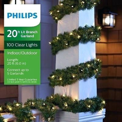 Lighted Outdoor Christmas Garland Prime