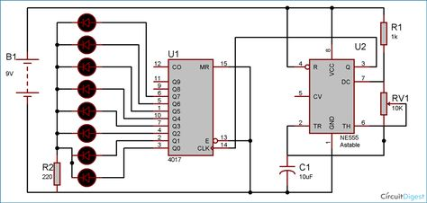 Awesome Heart Shaped Serial Led Flasher Circuit Diagram 555 Timer Circuits Wiring 101 Kwecapipaaccommodationcom