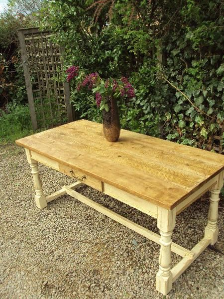 The Edinburgh Painted Refectory Farmhouse Table Made From Reclaimed Pine Table Only Farmhouse Table Pine Table Table