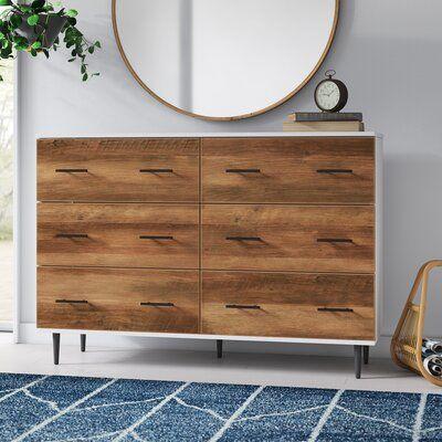 Luisa 52 Wide 6 Drawer Sideboard Allmodern In 2020 Furniture Wide Sideboard Stylish Sideboards