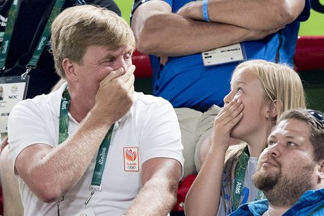 Le roi Willem-Alexander des Pays-Bas et la princesse Ariane aux JO de Rio, le 15…