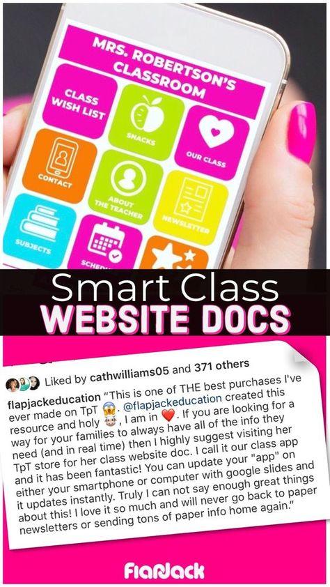 pretty smart class website doc google slides style classroom