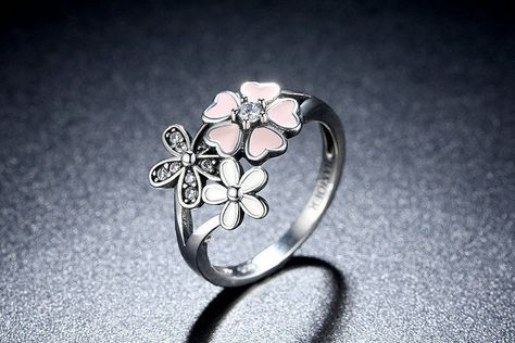 anello pandora perla e fiore