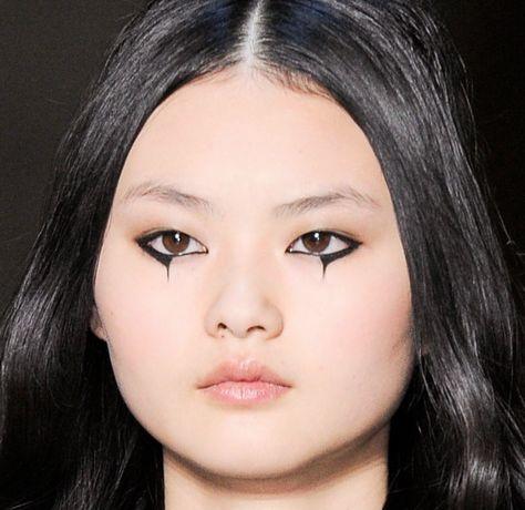 soierose: cong he Goth Makeup, Makeup Inspo, Makeup Art, Makeup Inspiration, Beauty Makeup, Eye Makeup, Hair Makeup, Makeup Drawing, Grunge Makeup