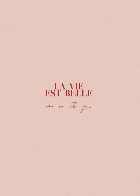 La Vie Est Belle pink French iPhone wallpaper - by Sarah Loven // JETSETLUST.COM