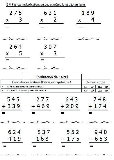 Image Result For Exercice De Math Ce2 Math Math Equations