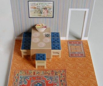 Dining Room Pop Up Card Dyi Paper Doll House Paper Pop Paper Crafts