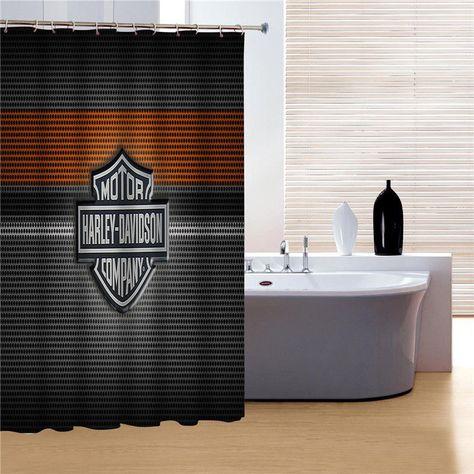 Motor Harley Davidson Shower Curtain Unbranded Bathroom Shower