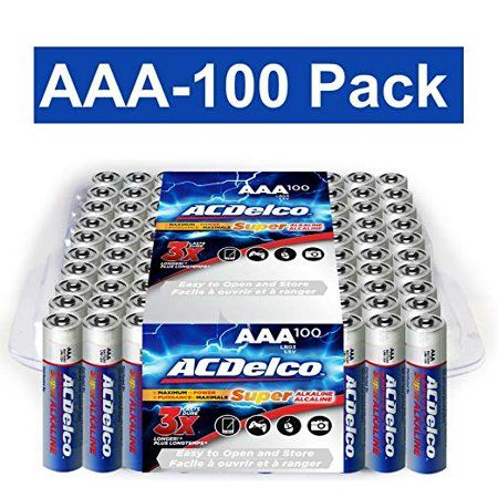 Acdelco Super Alkaline Aaa Batteries 100 Count Walmart Com Alkaline Battery Aaa Batteries Batteries