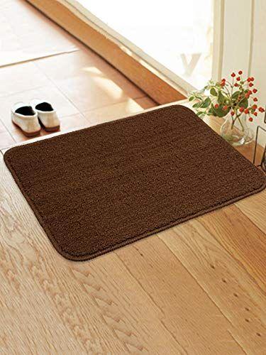 Saral Home Anti Slip Polyester Door Mat 40x60 Cm Brown In 2020 Rugs On Carpet Brown Carpet Home Furnishings