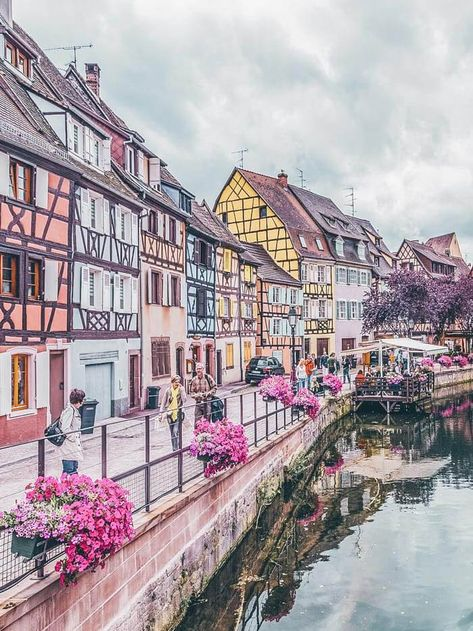 Fairytale town of Colmar, France. Click through to see 15 of the most beautiful fairytale travel destinations in the world! Colmar France, Provence France, Best Places In Portugal, Map Of Portugal, Voyage Canada, Voyage New York, Ville France, Destination Voyage, Voyage Bali