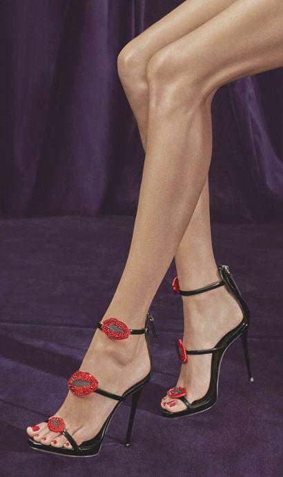 Cheeky #sandals #heels #lips #shoes