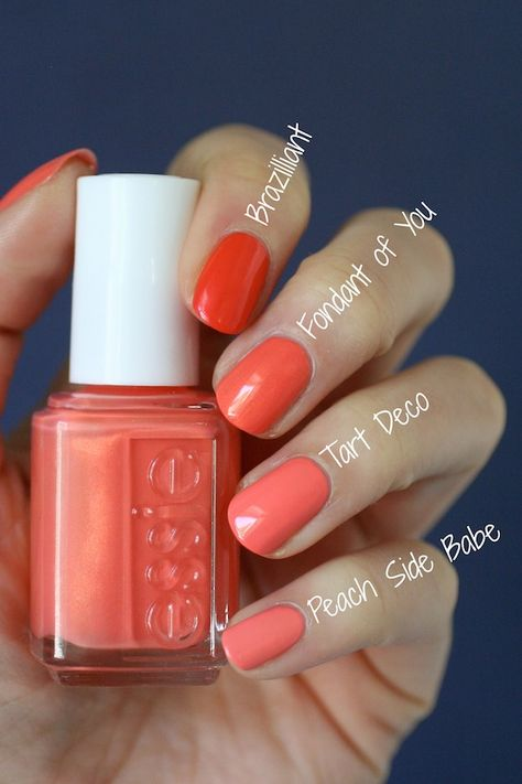 Essie Fondant of You-Summer 2017 Essie Nail Colors, Pretty Nail Colors, Pretty Nails, Summer Nail Polish Colors, Peach Nail Polish, Summer Colors, Fabulous Nails, Gorgeous Nails, Fancy Nails