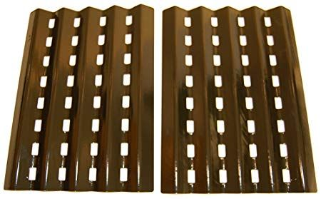 Porcelain Steel Heat Plates For Brinkmann And Charmglow Grills Set Of 2 Review With Images Outdoor Cooking Grills Gas Fire Pits Outdoor Porcelain