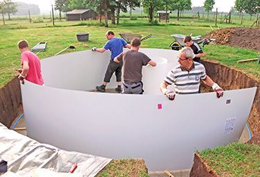 Aufbau Von Stahlwand Pools In 9 Schritten In 2020 Plastic Pool Pool Round Pool