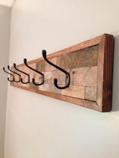 Store /& Style 45 x 4,5 x 8/cm Colgador de pared con 4 ganchos madera