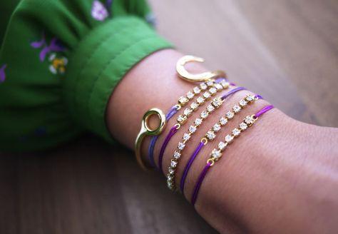 diy rhinestone knot bracelet #jewelry