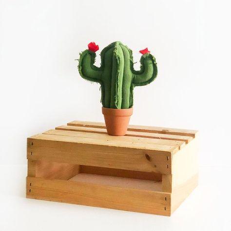 Mini saguaro fabric cactus plush in terra cotta pots, cactus gift set, housewarming gift, nursery de