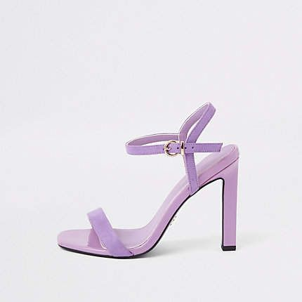 Purple Barely There Sandals Purple Sandals Wedge Wedding Shoes