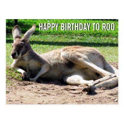 Kangaroo Happy Birthday To Roo Postcard Zazzle Com In 2021 Kangaroo Happy Birthday Cards Happy Birthday Funny