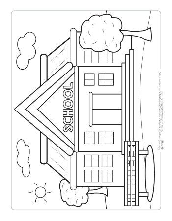 Back To School Coloring Pages For Kids School Coloring Pages