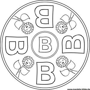 Buchstaben Mandalas Abc Ausmalbilder Zum Ausdrucken Buchstabe B Ausmalbilder Zum Ausdrucken Buchstaben