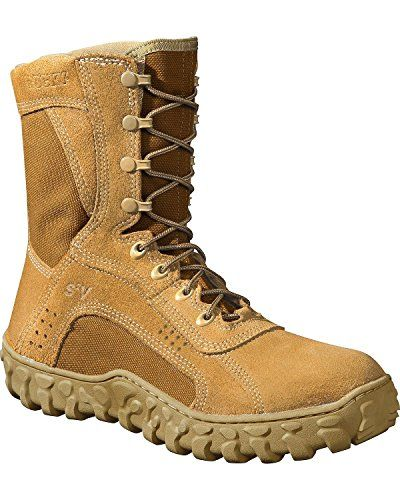 Rocky Men S 8 Inch S2v Protective Toe 6104 Steel Toed Work Shoe Coyote Brown 5 W Us Tactical Boots Duty Boots Boots