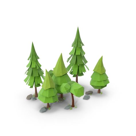 Low Poly Forest Collection PNG Images & PSDs for Download | PixelSquid