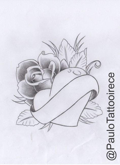 (Rose with heart) Elian   # heart #design # heart doodle