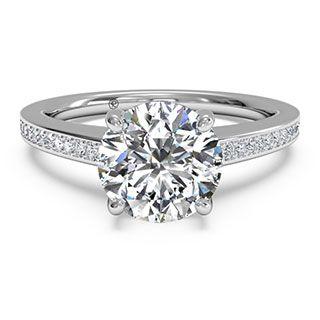#Ritani Classic #Platinum & #Diamond Semi Mount Solitaire #Engagement #Ring