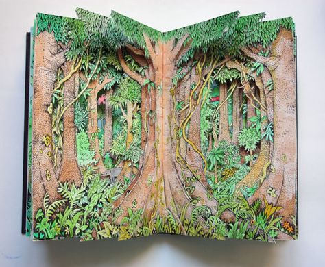 Forest Altered Books – Reflections – Alexi Francis