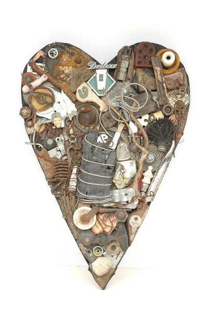 Found Object Art Gallery by Barbara Irwin  Create something like this and place objects that represent people that I love.
