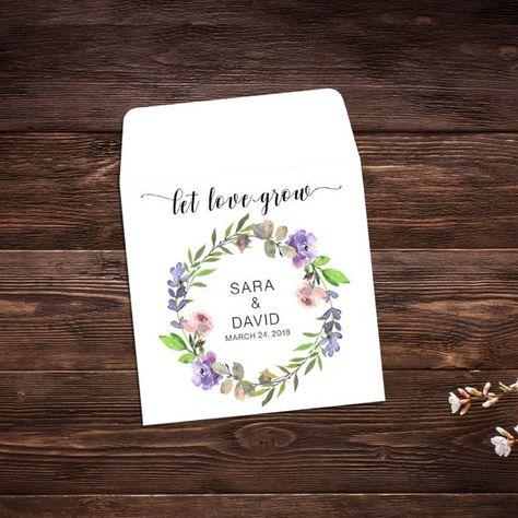 Wedding Seed Packets, Wedding Favors, Let Love # #seedpackets #seedfavors #weddingfavors #weddingseedfavor #weddingseedpackets #seedpacket #weddingfavor #seedfavor #seedpacketenvelope #seedpacketfavor #summerwedding #flowerseeds #wildflowerseeds
