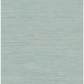 Nuwallpaper 30 75 Sq Ft Blue Vinyl Grasscloth Self Adhesive Peel And Stick Wallpaper Lowes Com In 2020 Peel And Stick Wallpaper Grasscloth Nuwallpaper