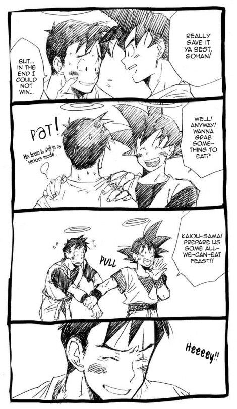 This Is So Sweet And Heart Warming D Future Goku And Future Gohan Anime Dragon Ball Dragon Ball Art Goku And Gohan