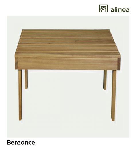 alinea : bergonce table basse de jardin en acacia huilé jardin ...