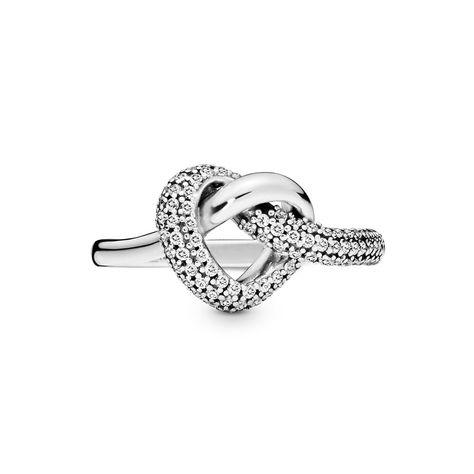 anello pandora cuore bianco