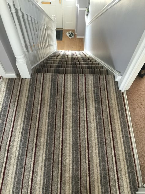Stripped Carpet Stairs Carpet Stairs New Homes Stairs