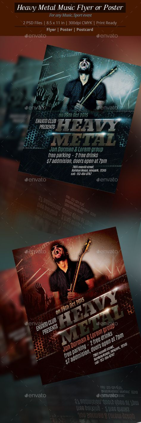 8 best Best Music Flyer or Poster Designs images on Pinterest - music flyer