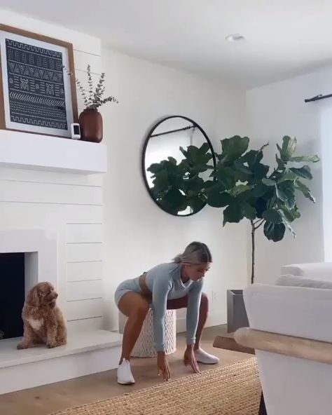 Super vigorous HIIT workout by IG: whitneyysimmons 1. Jump for crossover 2. Right knee drive on step 3. Left knee drive on step 4. Right lateral lunge to oblique crunch 5. Left lateral lunge to oblige crunch 6. Toe taps 7. Downdog to knee drive Do each exercise for 30 seconds with a 30-second rest in between for 3 rounds. Save this pin to try later. #Gymshark #Workout #Target #Fitness #Gym #Exercise #Challenge #Sport #ForHer #FullBody #Arms #Core #Hiit #Training #Legs #Intense #ChallengingSuper